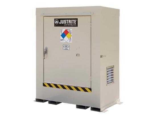 Gabinetes para Tambores Justrite 911020 almacenamiento en exterior