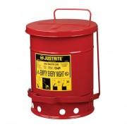 Tanques para desechos aceitosos Justrite 9100 - Apertura a pedal - 23 litros