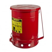 Tanques para desechos aceitosos Justrite 9308 SoundGuard™ - Apertura a pedal - 38 litros - Color rojo