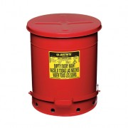 Tanques para desechos aceitosos Justrite 9508 SoundGuard™ - Apertura a pedal - 53 litros - Color rojo