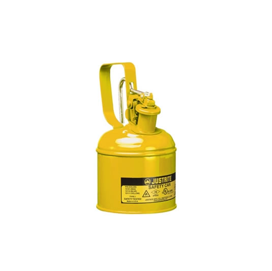 Bidones para inflamables Justrite 10111 metalicos Tipo I - Cap. 1 lts - Color amarillo para Gas oil
