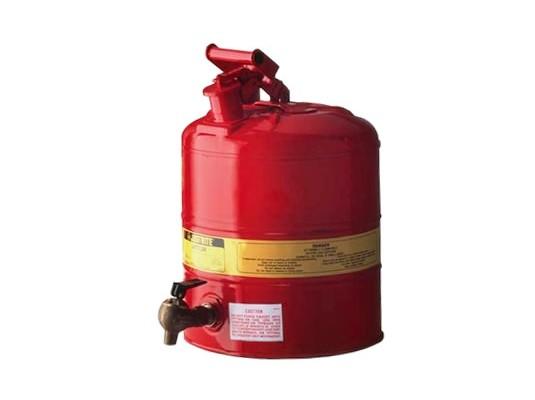 Bidones de Seguridad para Laboratorios - Bidones para laboratorio metálicos Justrite 10307 con grifo 08540 - 4 lts.