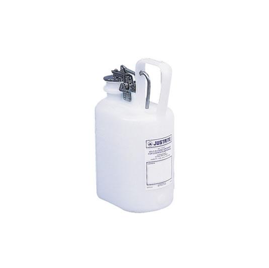 Bidones plásticos para corrosivos Justrite 12161 ovalados - 4 lts.