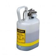 Bidones para ácidos y corrosivos Justrite 12162 ovalados plásticos Tipo I con accesorios de acero inoxidable - Color blanco - 4 lts.