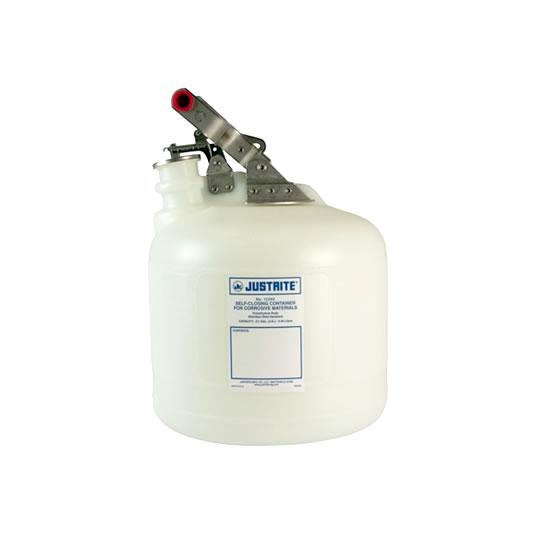 Bidones plásticos para corrosivos Justrite 12260 ovalados - 9 lts.