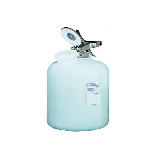 Bidones plásticos para corrosivos Justrite 12762 ovalados - 8 lts.