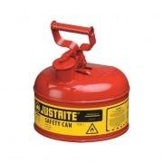 Bidones para inflamables Justrite 7110100 (ex 10201) metalicos Tipo I - Cap. 2 lts