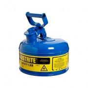 Bidones para inflamables Justrite 7110300 (ex 10210/10310) metalicos Tipo I - Cap. 4 lts - Color azul para Querosén