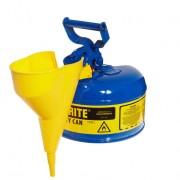 Bidones para inflamables Justrite 7110310 metálicos Tipo I - Con embudo - Cap. 4 lts - Color azul para Querosén