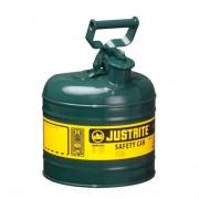 Bidones para inflamables Justrite 7120400 metálicos Tipo I - Cap. 7,5 lts - Color verde para Aceite