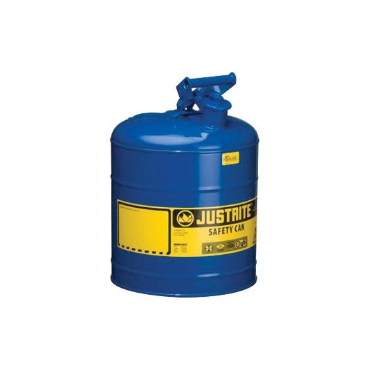 Bidones para inflamables Justrite metálicos Tipo I - Color azul para Querosén