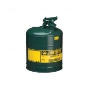 Bidones para inflamables Justrite metálicos Tipo I - Color verde para Aceite