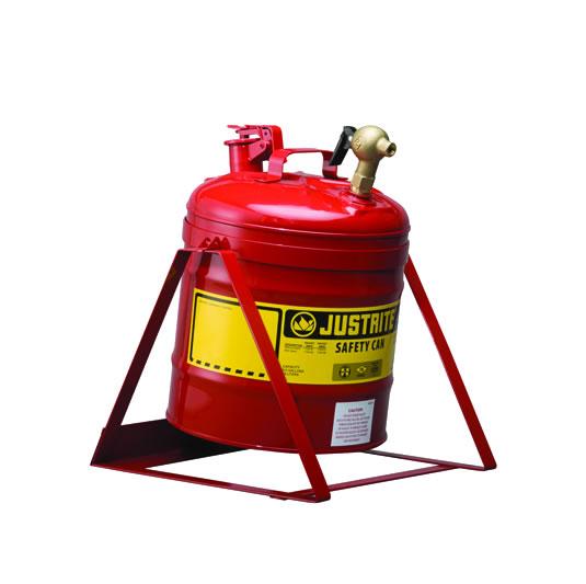 Bidones para laboratorio metálicos Justrite 7150146 (ex 10886) basculante con columpio y grifo 08540 - 19 lts.