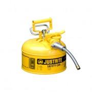 Bidones para inflamables Justrite 7210220 (ex 10326/10368Y) metálicos de dos bocas Tipo II Accuflow™ - 4 lts - Color amarillo para Gas oil