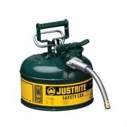 Bidones para inflamables Justrite 7210420 (ex 10368E) metálicos de dos bocas Tipo II Accuflow™ - 4 lts - Color verde para Aceite