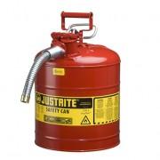 Bidones para inflamables Justrite 7250130 (Ex 10821) de dos bocas y manguera Tipo II AccuFlow™ - 19 lts - Color rojo