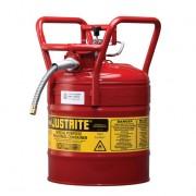Bidones para inflamables Justrite 7350110 D.O.T. Tipo II con manguera - 19 litros - Color rojo