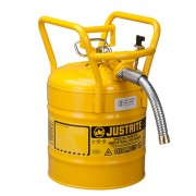 Bidones para inflamables Justrite 7350230 D.O.T. Tipo II con manguera - 19 litros - Color amarillo
