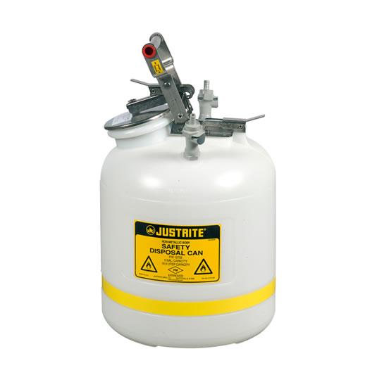 Bidones para laboratorio no metálicos Justrite PP12755 - línea Centura™ Modelo PP - 19 lts.
