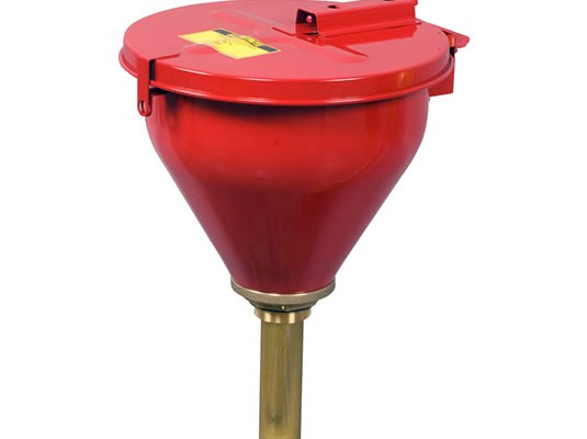 Embudos Justrite para tambores de seguridad - Embudos grandes para tambores cierre con fusible Justrite 8207