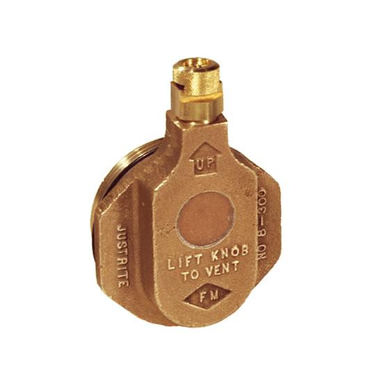 Válvulas de venteo horizontal bronce Justrite 08300
