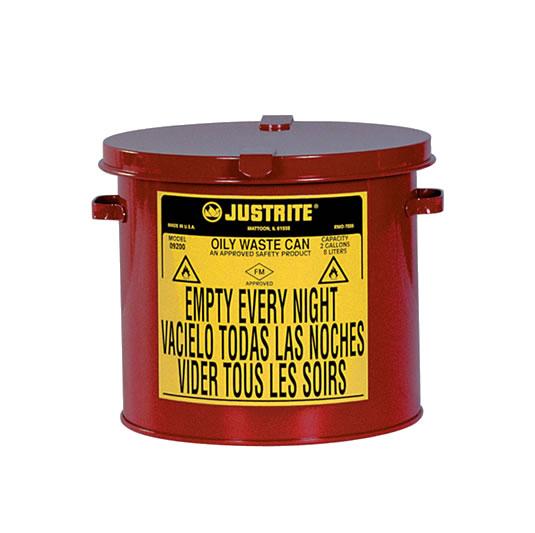 Tanques para desechos aceitosos Justrite 9710 - Sobremesada - 8 litros
