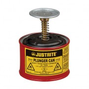 Humectadores de seguridad con pistón Justrite 10008 - 1/2 litro - Color rojo