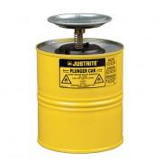 Humectadores de seguridad con pistón Justrite 10318 - 4 litro - Color amarillo