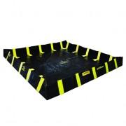 Piletas para contención de derrames Justrite QuickBerm® con soportes interiores de pared