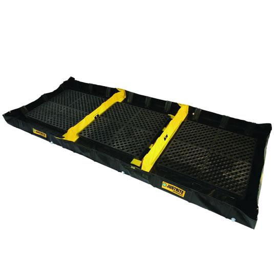 Piletas para contención de derrames Justrite 28572 Decon QuickBerm® - 1,83 x 4,88 x 0,20 mts - 1.809 litros