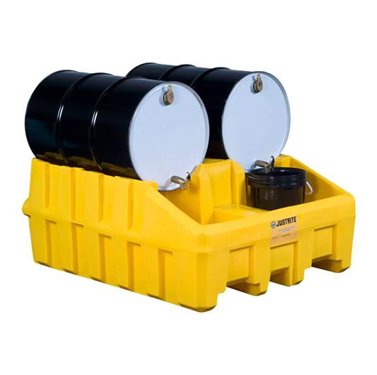 Módulos apiladores para sistema de gestión de tambores - Color Amarillo - Justrite 28666 (Ex AK28902/AK28902Y) EcoPolyBlend™