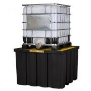 Pallets Justrite para contenedores IBC - Pallets antiderrames Justrite para contenedores IBC 28674 EcoPolyBlend DrumSheds