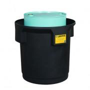 Centros colectores Justrite 28685 (Ex 28268) EcoPolyBlend™ con tapa - Para 1 tambores - Color negro